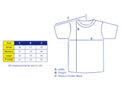 Tshirt in White with Blueberry Bubble Logo Print
