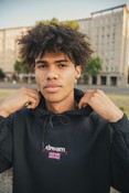 Hoodie in black with Dream Sports Logo Embroidery