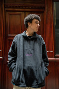 Fleece In Black With Violet Dream Embroidery