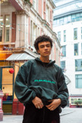 Fleece In Green With Green DBDNS Embroidery