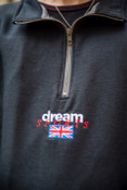 1/4 Zip Sweatshirt In Black With Dream Sports Embroidery