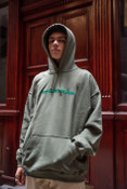 Green Hoodie With Green DBDNS Embroidery