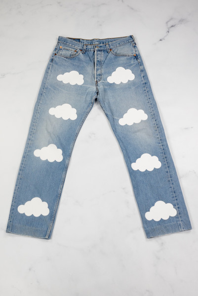 Reworked Vintage Levis Cloud Denim