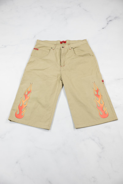 Reworked Vintage Flame Shorts