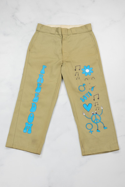 Reworked Vintage Dickies Beige Freedom Trousers