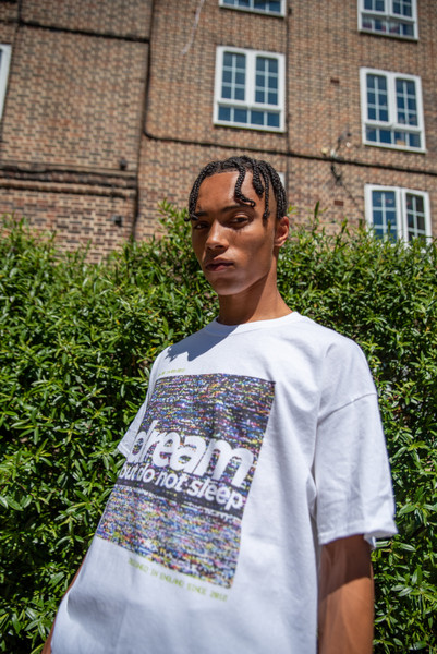 Short Sleeved T-Shirt in White With VHS Print
