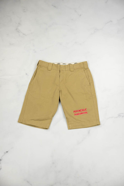 Reworked Vintage Dickies Shorts with Red Logo Embroidery