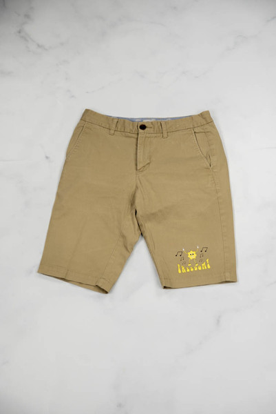Reworked Vintage Dickies Shorts with Freedom Print