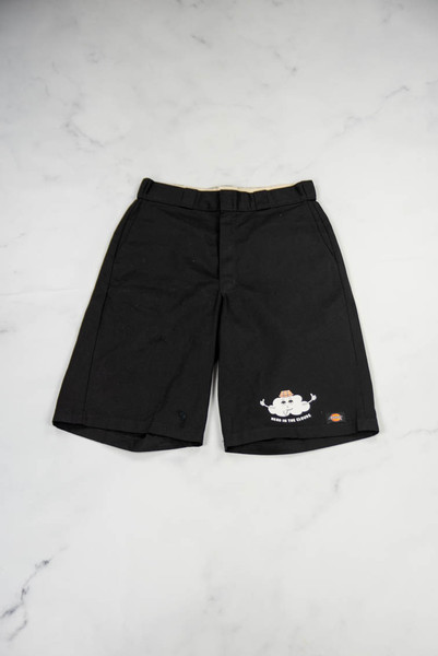 Reworked Vintage Black Dickies Shorts with Head in the Clouds