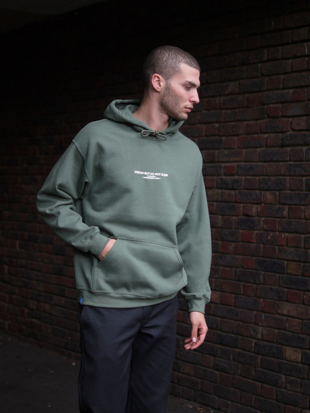 UK Born Worldwide Worn Military Green Hoodie