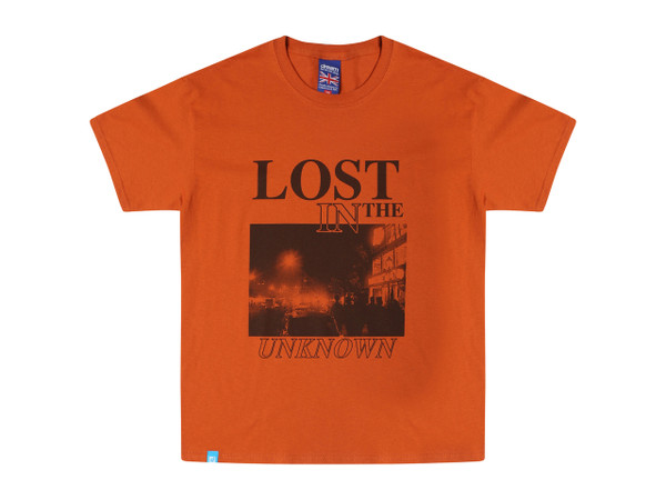 Texas Orange T-shirt With 'Lost In The Unknown' Design