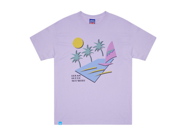1e1872f36 Short Sleeved T-shirt In Lilac With 80s California Palm Print