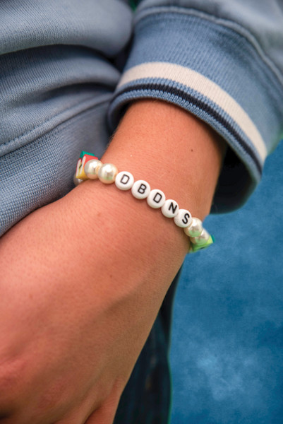 Apple and Strawberry Pearl Beaded Bracelet.
