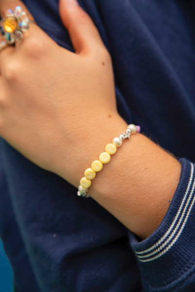 Yellow and Blue Unisex Smile Bracelet