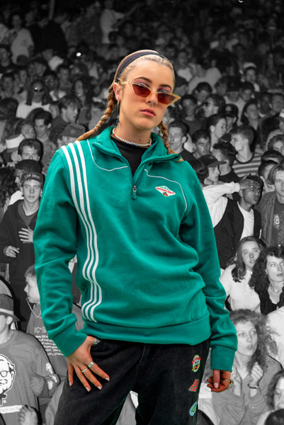Vintage Reworked Green Adidas Quarter Zip