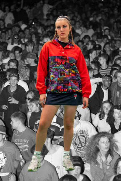 Vintage Reworked Festival Fleece