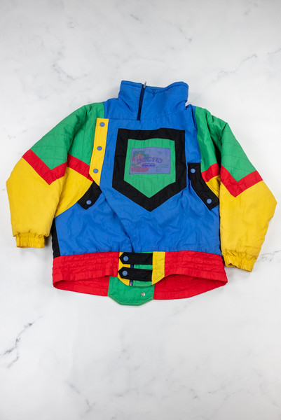 Vintage Reworked Patchwork Ski Jacket