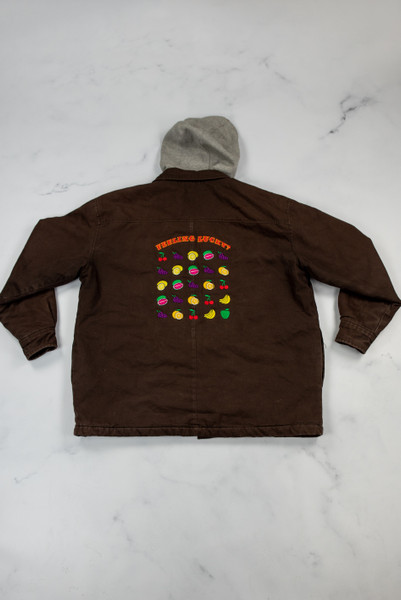 Reworked Vintage Dickies Brown Hooded Jacket