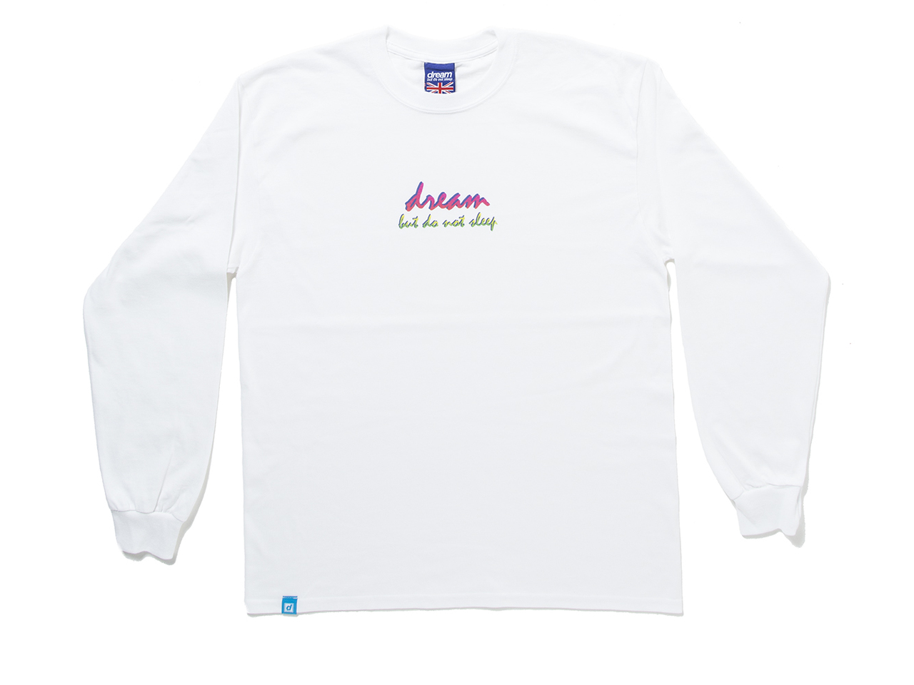 36ef49708 90s Logo Design On White Long Sleeved T-shirt - Dream But Do Not ...