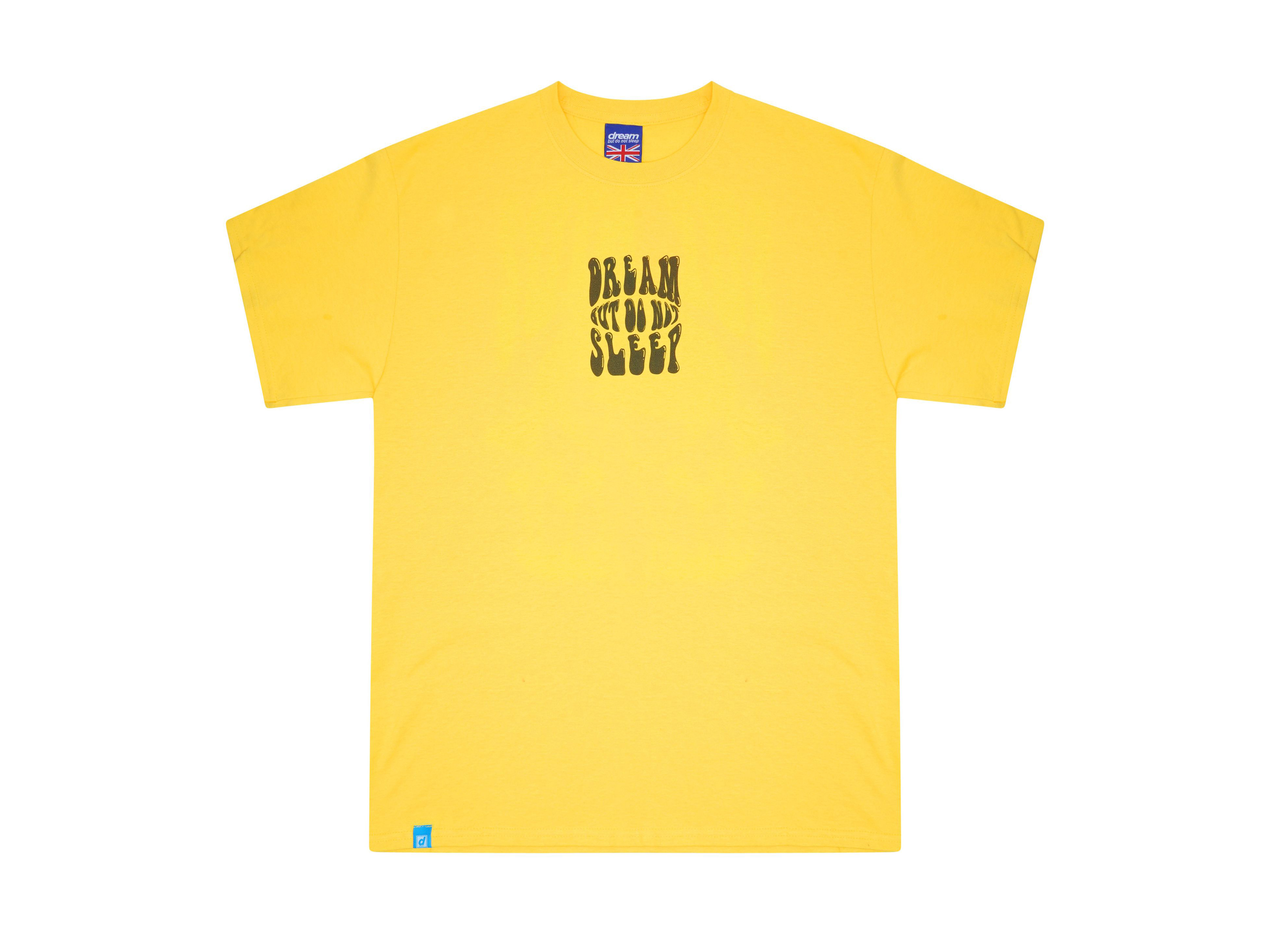 9819efc4f0ec Short Sleeved T-shirt In Yellow With Sup Bro Mushroom Print
