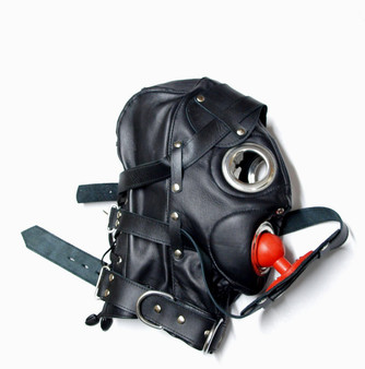 BDSM enganliegende Maske aus Ziegenleder MASKE 6