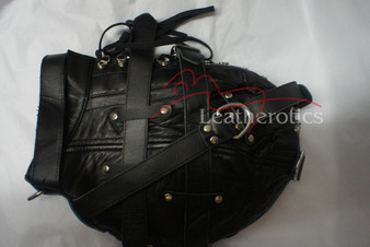 Isolationsmaske aus Ziegenleder (Maske 9) 2