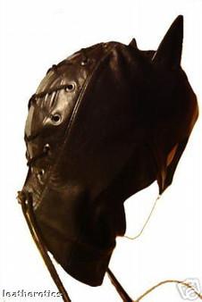 Gesichtsmaske aus Leder Catwomen