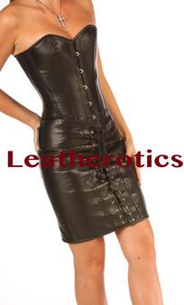 Schwarzes Korsagenkleid mit Knochen aus Stahl