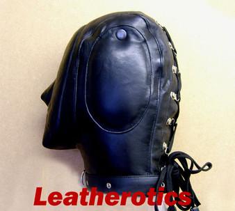 Enganliegende Audio-Maske aus weichem Leder