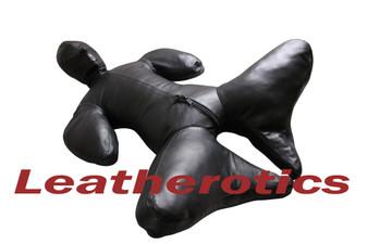 Bondage-Bodybag B-SUIT aus vollnarbigem Leder mit Zwangsmaske  pic 11