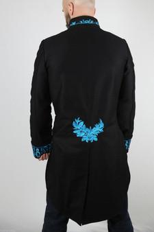 Herren Baumwoll Frack Hochzeit Rot Steampunk Vintage Jacke