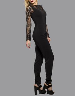 Spitzenbesatz Damen Sommer Jumpsuit 2018 Playsuit All in One Kleid