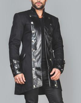 Einzigartige gotische Steampunk Jacke aus Leder