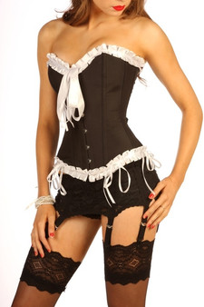 black frilly corset