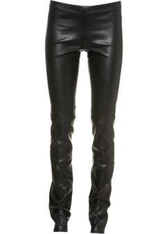 Vollnarbiges Leder skinny Leggings Sexy Enganliegend