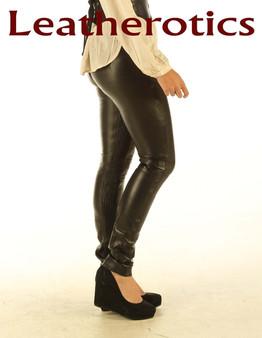 Einzigartige Stretch Naturleder Leggings Skinny Fit Jeans STLEGG