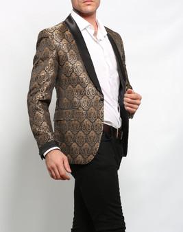 Deluxe Herren Vintage Gold Blazer img2