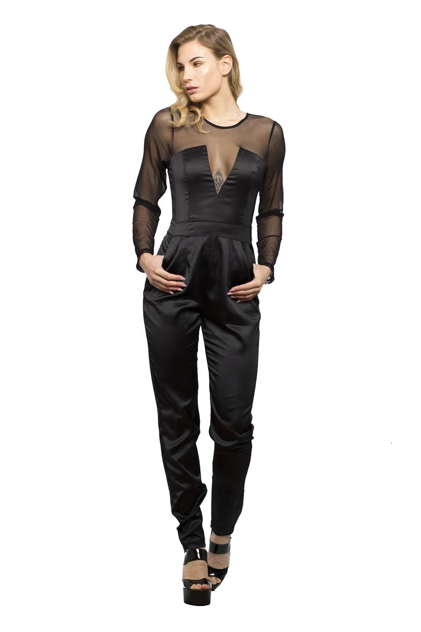 sommer jumpsuit playsuit catsuit kleid mit netzarmen schwarz