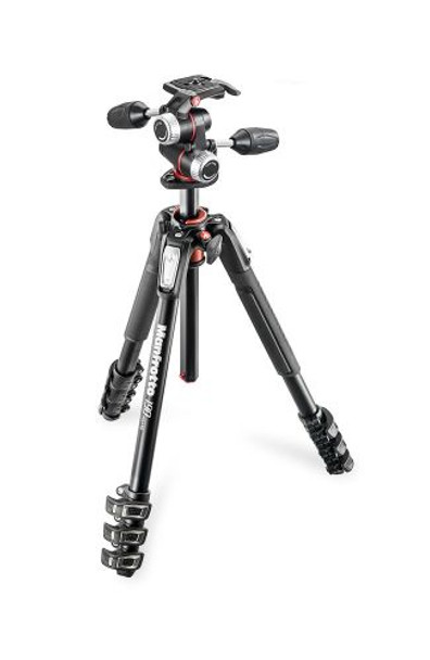 Manfrotto 190 Aluminium 4-Section WITH XPRO 3 -Way Head