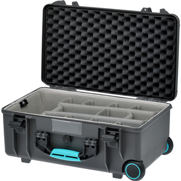 HPRC 2550W - Wheeled Hard Case + Second Skin Liner & Divider Kit (GREY/TURQUOISE)
