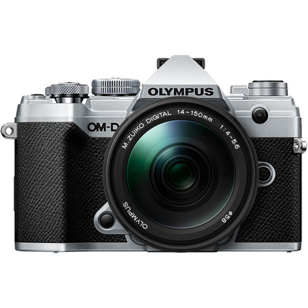 Olympus OM-D E-M5 III with 14-150mm Silver + BONUS 25mm F1.8 Lens & Explorer Pack