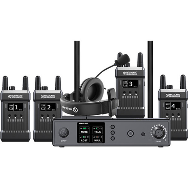 Hollyland Full Duplex Wireless Intercom System Mars T1000 (1 Base Station and 4 Beltpacks)