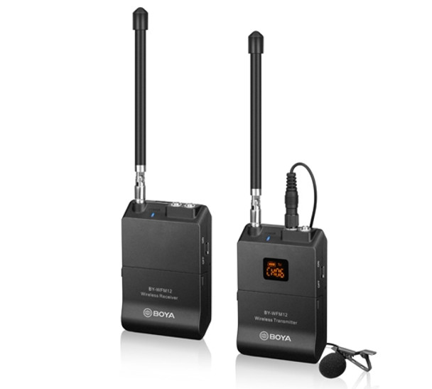 BOYA BY-WFM12 VHF Wireless Microphone TX+RX (16 channels available)
