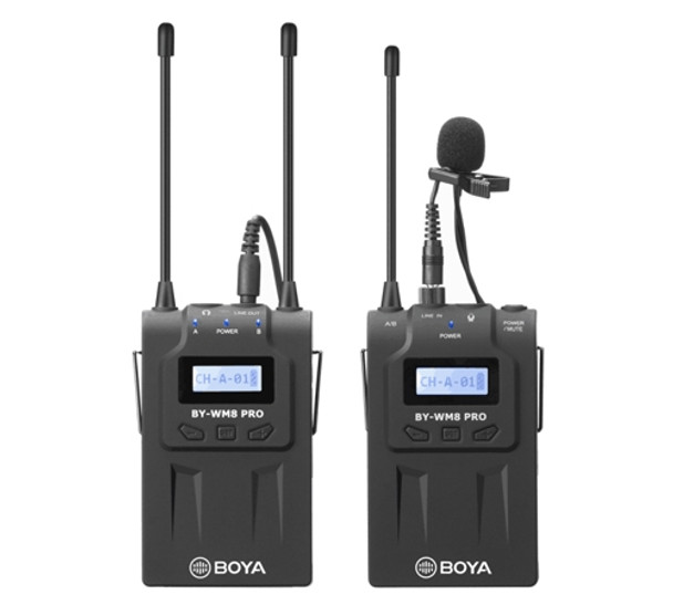 BOYA BY-WM8 Pro-K1 UHF Wireless Mic (1x Receiver1x Transmitter)