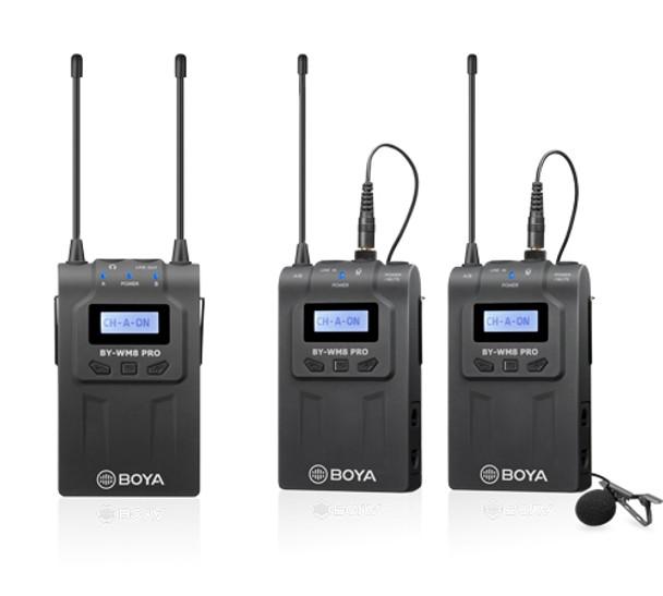 BOYA BY-WM8 Pro-K2 UHF Wireless Mic (1x Receiver2x Transmitter)