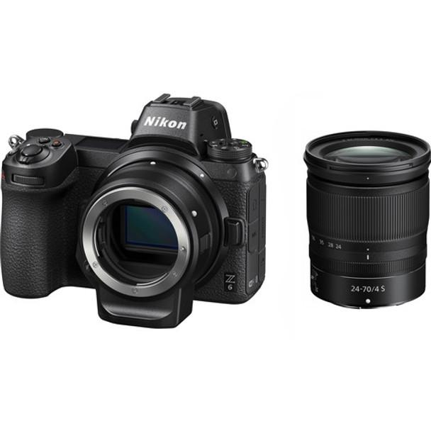 Nikon Z6 Mirrorless Digital Camera + NIKKOR Z 24-70mm f/4 S + FTZ Adapter