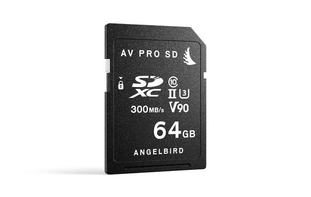 Angelbird 64GB AV Pro MK2 UHS-II V90 SDXC Memory Card