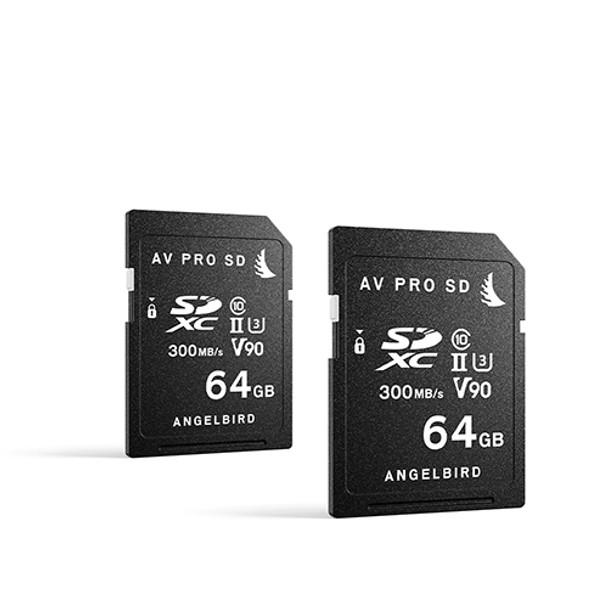Angelbird 64GB AV Pro MK2 UHS-II V90 SDXC Memory Card 2-pack