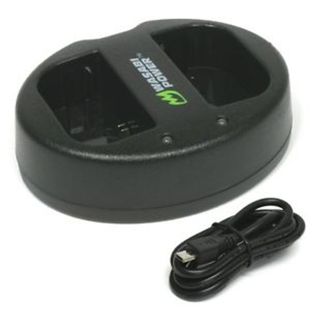 Wasabi Power Dual USB Charger for Canon LP-E6