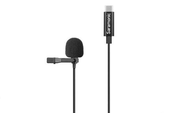 Saramonic LavMicro U3B Clip-On Lav Microphone with USB Type-C Adapter (6m)
